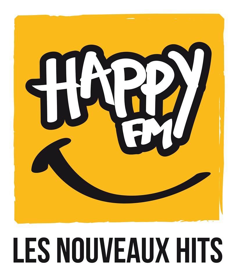 Le nouveau logo de Happy FM dévoilé le 9 juillet avant la mise en ligne d'un nouveau site internet et de nouveaux programmes