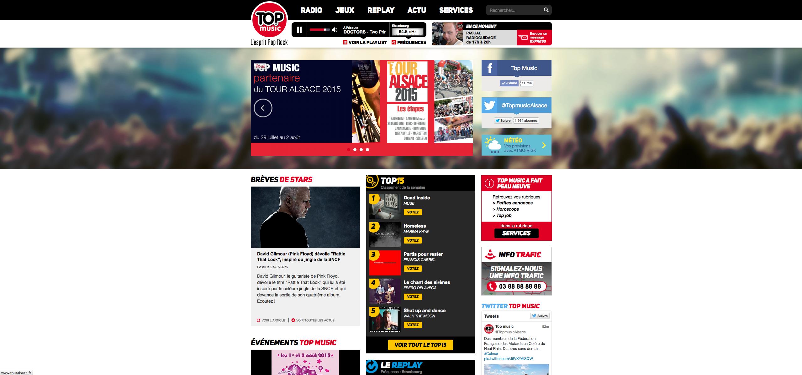 Nouveau site web pour Top Music