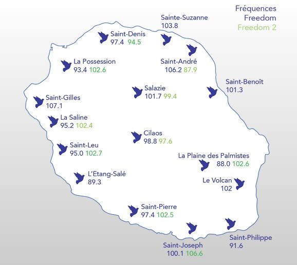 Du Nord au Sud de l'île de La Réunion, impossible de rater le programme de Radio Freedom