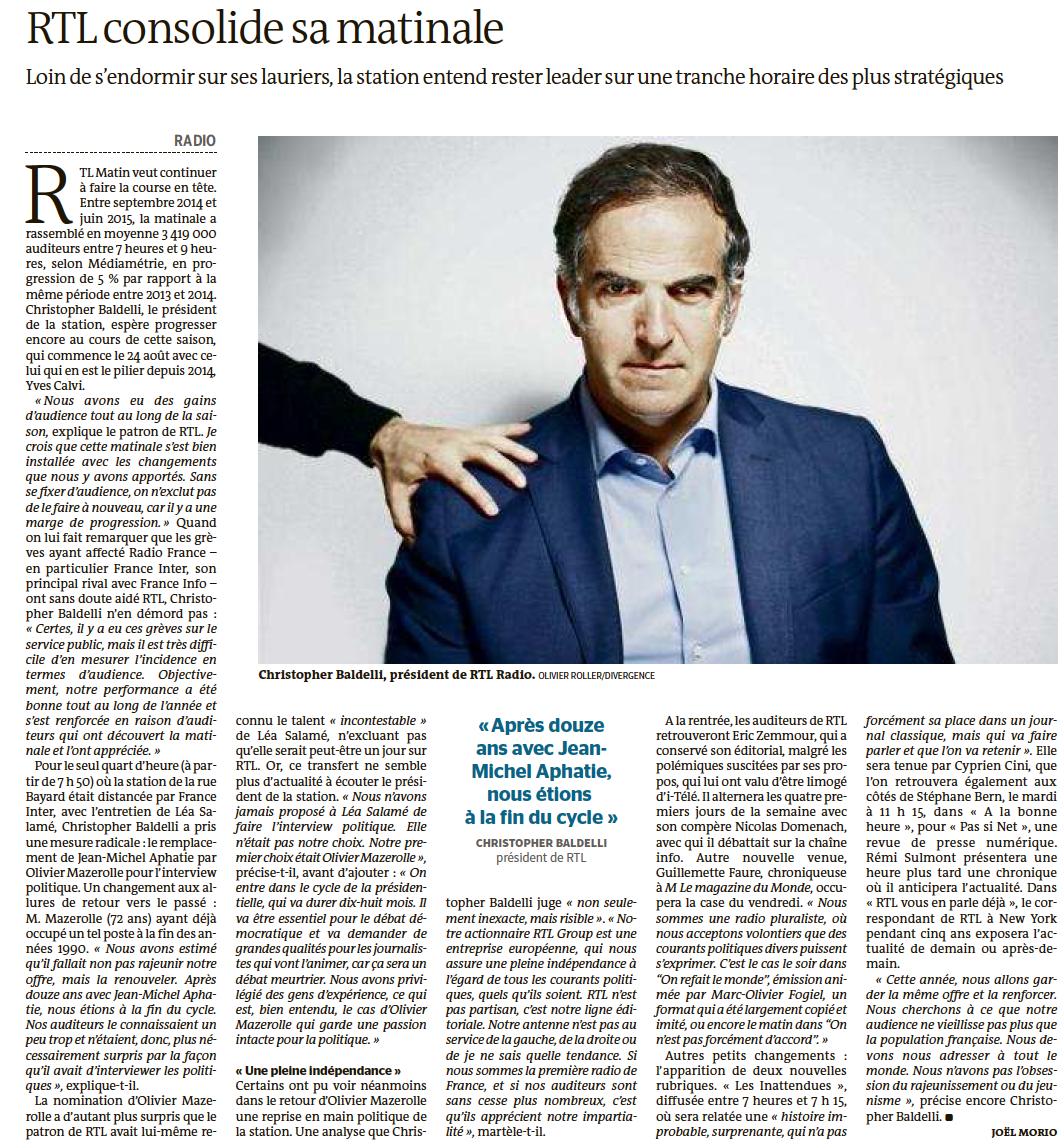 RTL : pas de rajeunissement mais du renouvellement