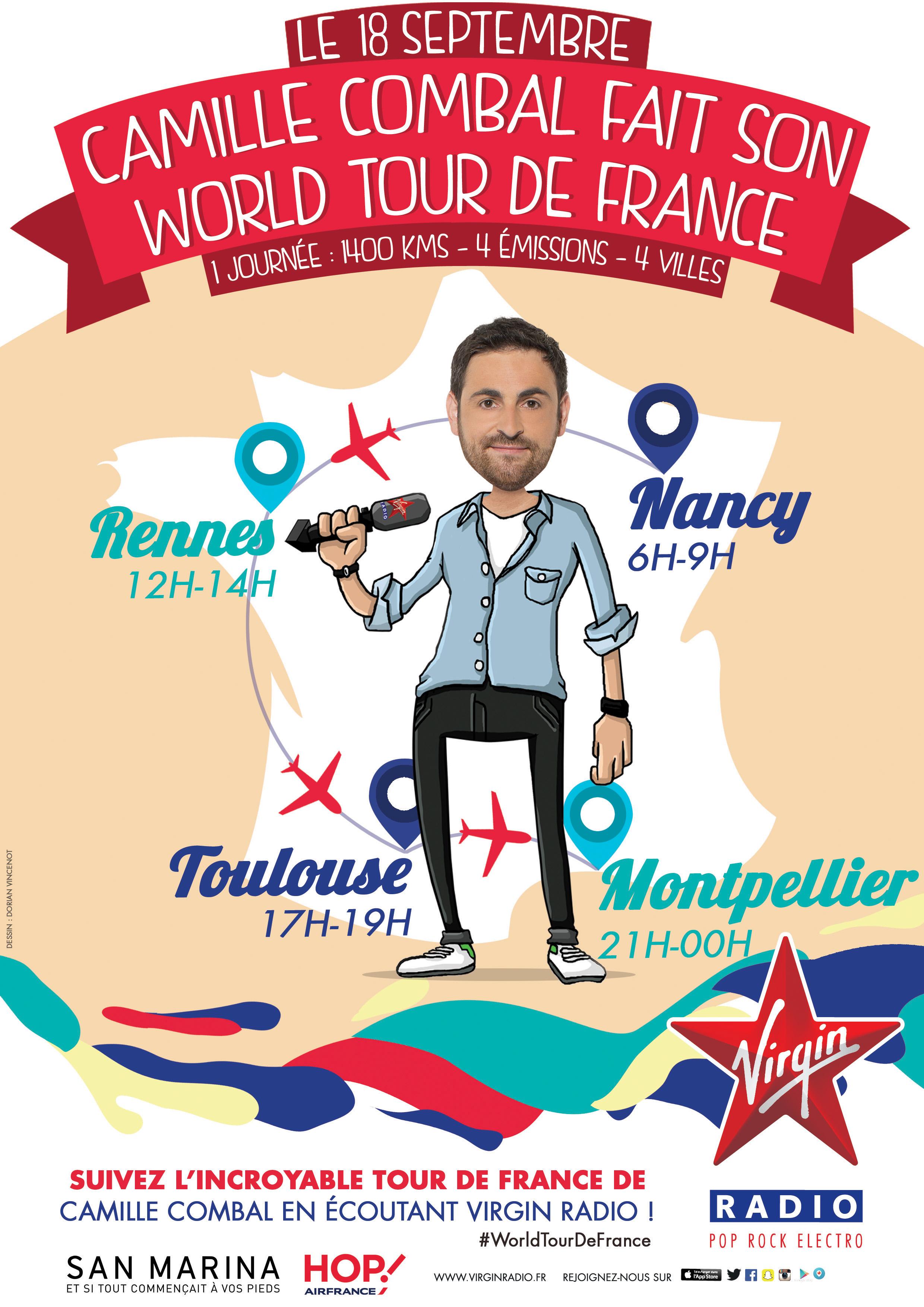 Un 2e World Tour de France pour Camille Combal