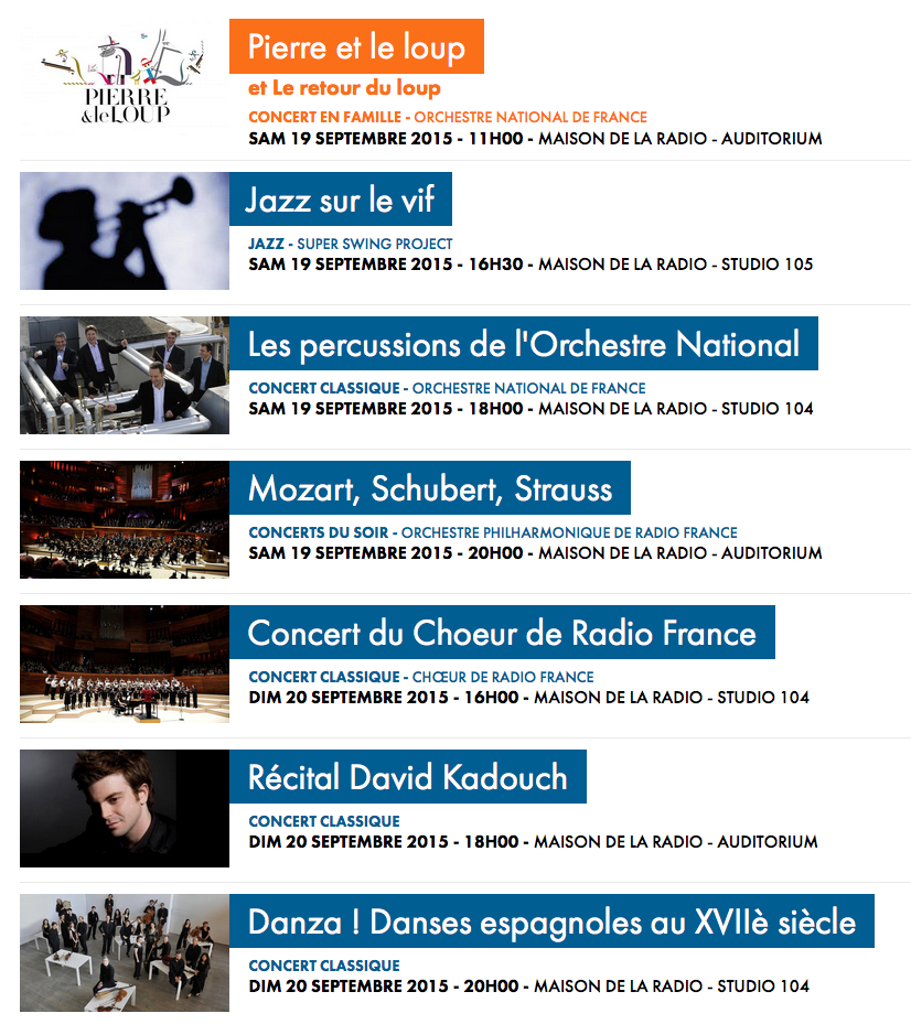 Radio France prépare les Journées du patrimoine