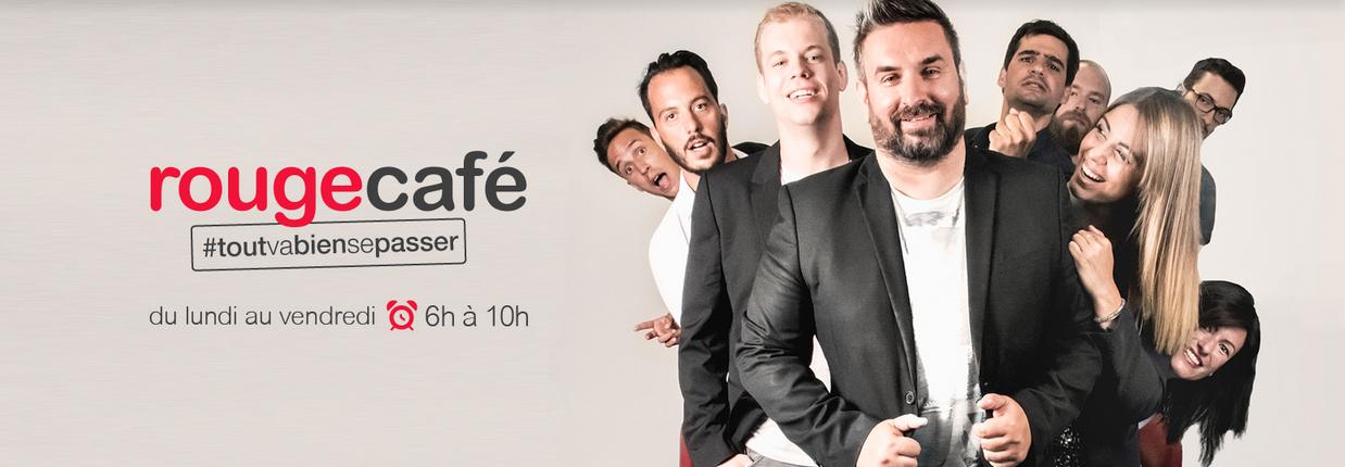 """Tous les jours entre 6h et 10h, Rouge FM propose son Morning """"Rouge Café"""" (ici avec Philippe Martin) sur la FM Romande"""