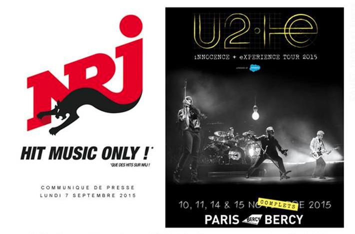NRJ partenaire officiel des concerts de U2 en France