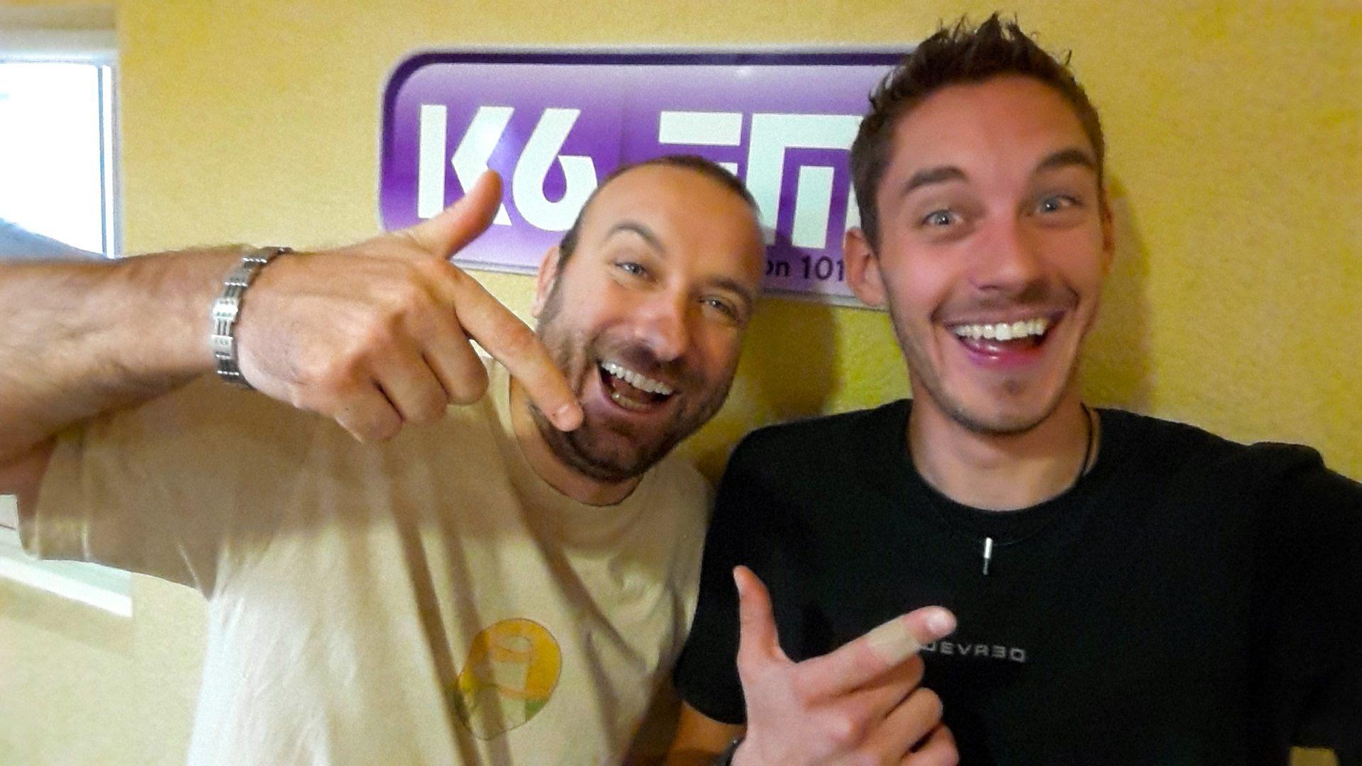 Arnaud Piat (de 9h à 13h) et Yoann Olid (journaliste de la matinale entre 6h et 9h) ont fait leur rentrée sur K6FM