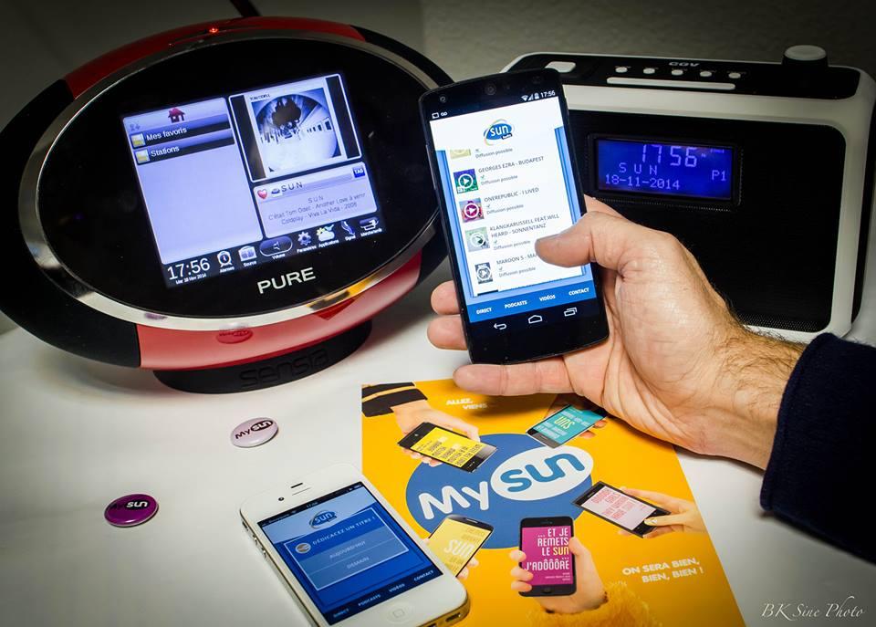 Grâce à son application MySun, Sun permet à ses auditeurs de prendre le contrôle de la radio et d'accéder à la discothèque de la radio, qui compte 200 000 titres