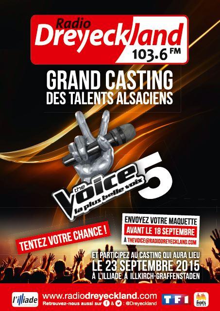 Dreyekland organise le casting Alsacien de The Voice