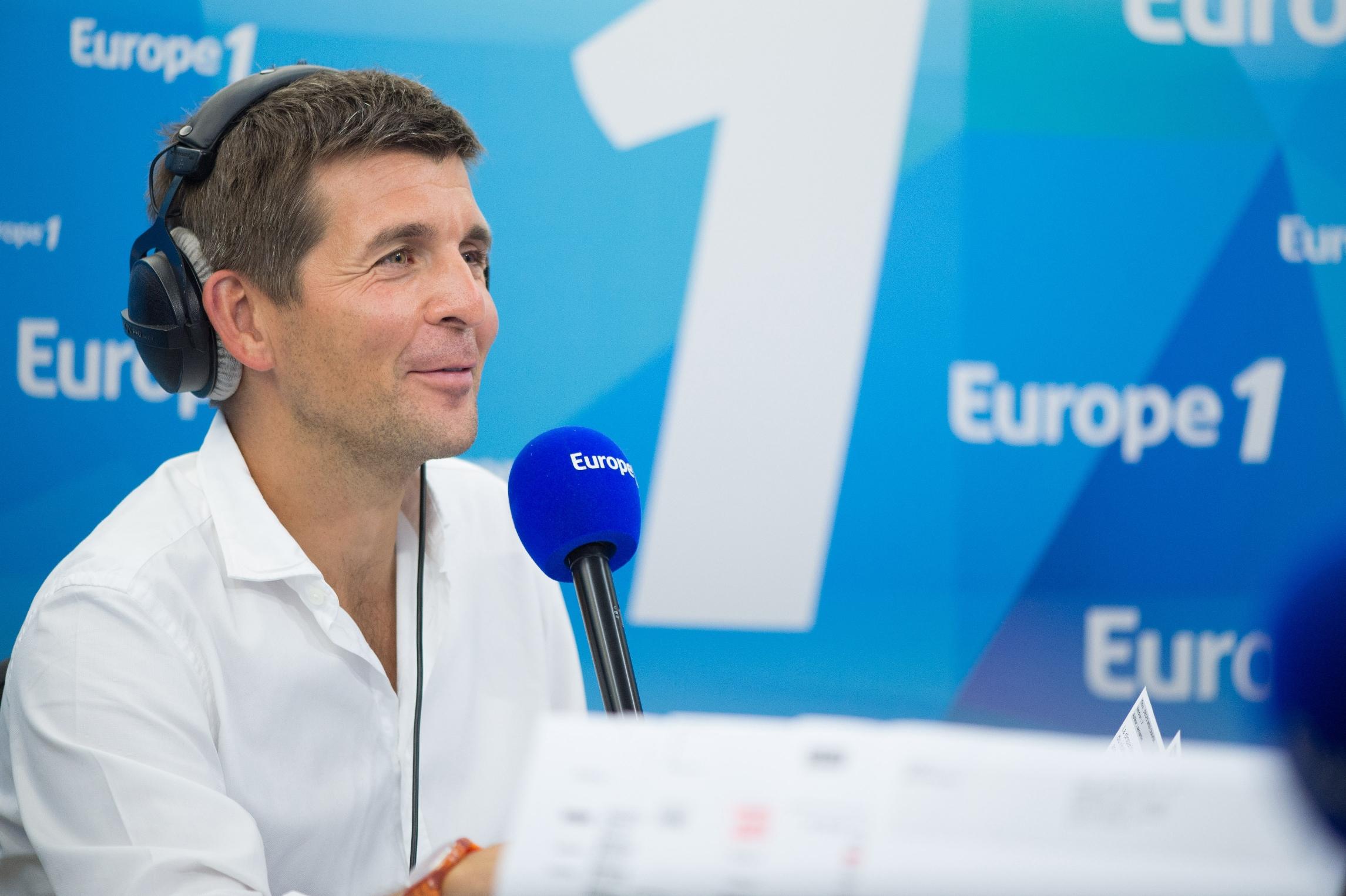 Thomas Sotto anchorman de la matinale Europe 1 © Christophe Guibbaud Capa Pictures