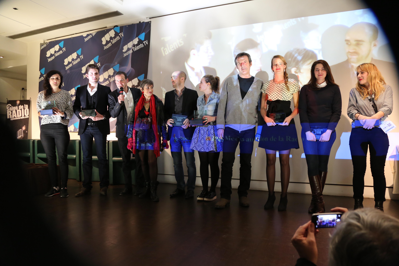 La cérémonie des Jeunes Talents de la Radio et de la Télévision en février dernier lors du Salon de la Radio © Serge Surpin