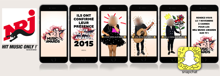NRJ Music Awards : NRJ choisit Snapchat