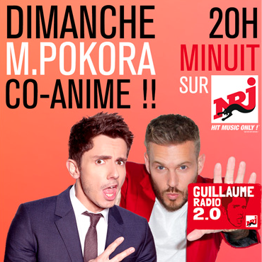 M Pokora co-anime l'émission Guillaume Radio 2.0