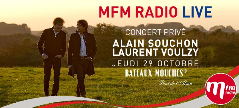 Souchon et Voulzy au MFM Radio Live