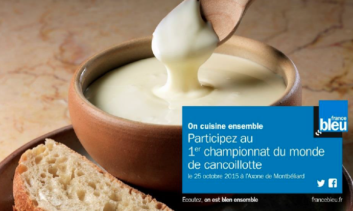 La Cancoillotte avec France Bleu Belfort Montbéliard