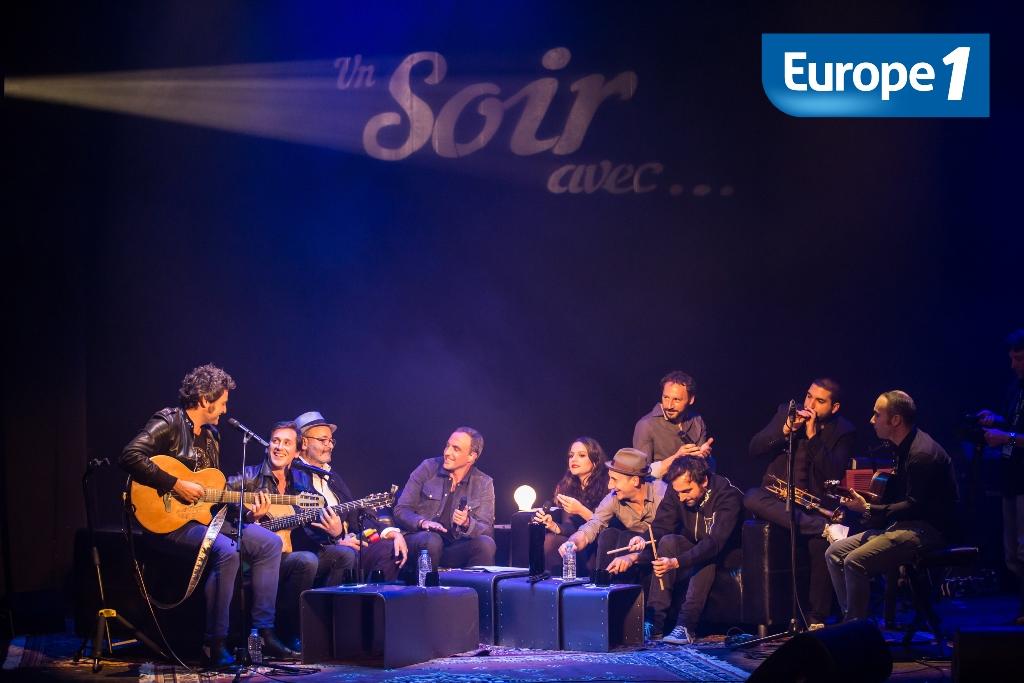 Au programme notamment, un morceau improvisé avec Thomas Dutronc, ses musiciens, la famille Chedid et Ibrahim Maalouf © Laurent Hazgui - Capa Pictures