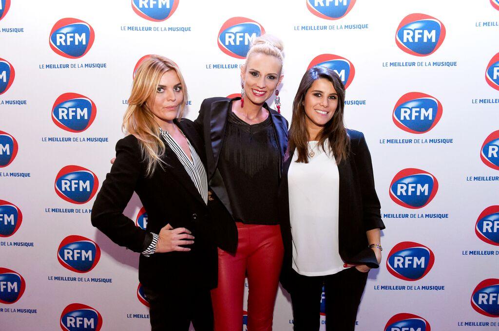 Justine Fraioli, Elodie Gossuin et Karine Ferri lors du RFM Mussic Live à Paris