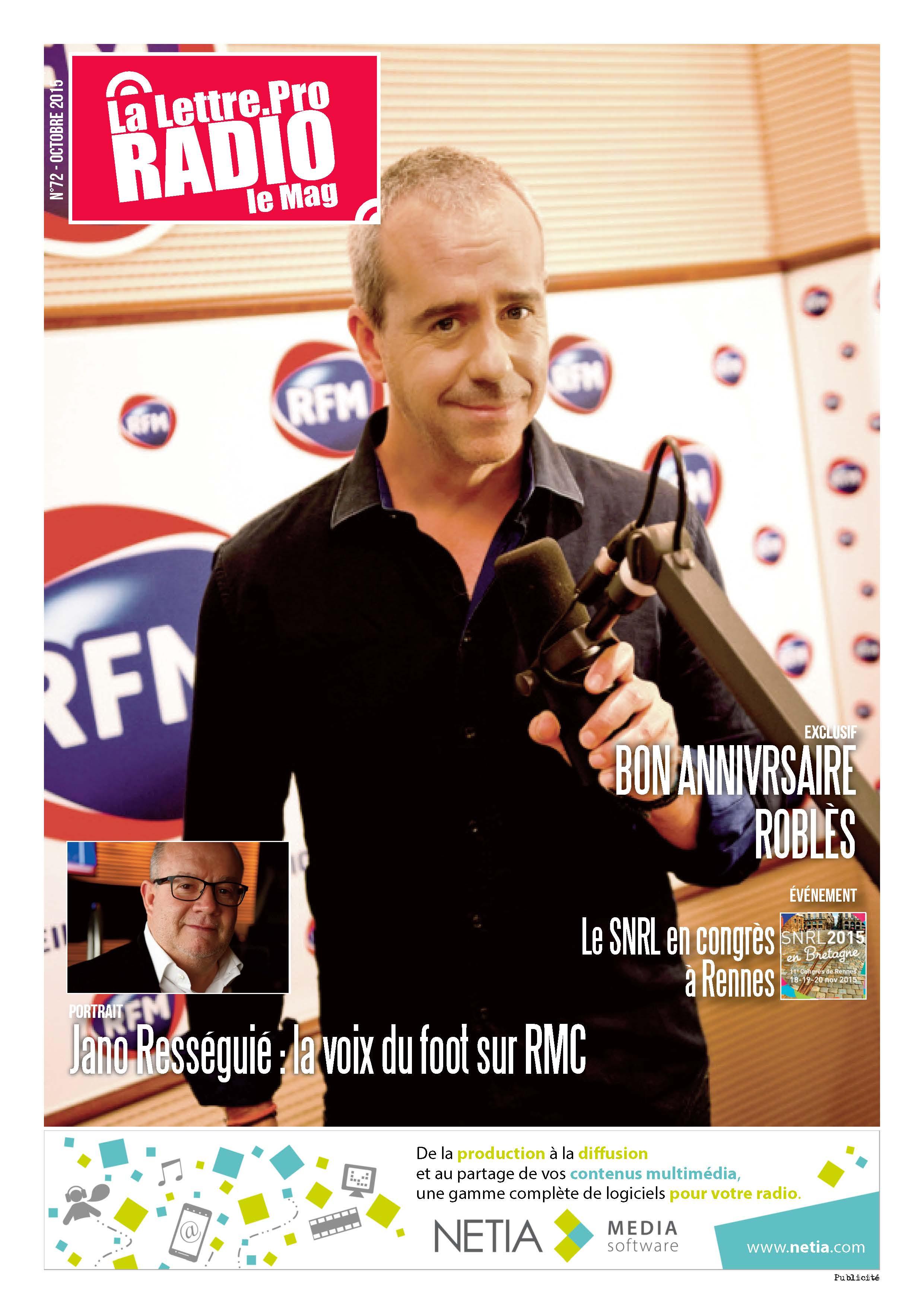 Bruno Roblès à la une de La Lettre Pro de la Radio