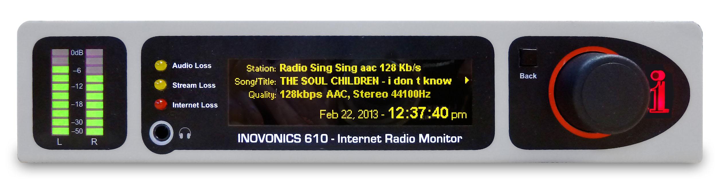 Inovonics610 : un tuner de surveillance pour webradios