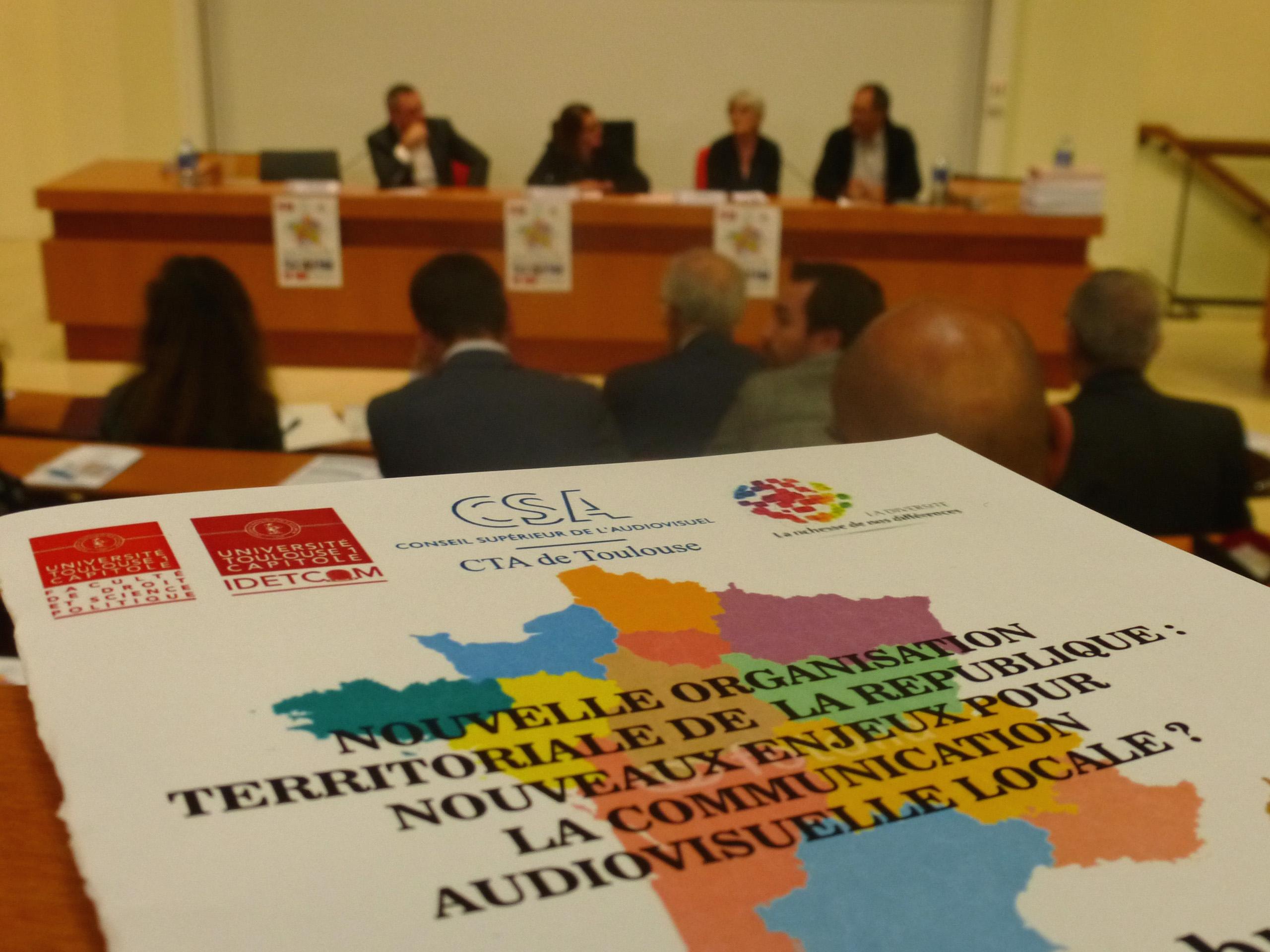 Les opérateurs radiophoniques de la future région étaient rassemblés à l'université de Toulouse 1 Capitole le 29 octobre. © Hervé Marchais