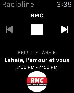 radioline désormais sur l'Apple Watch