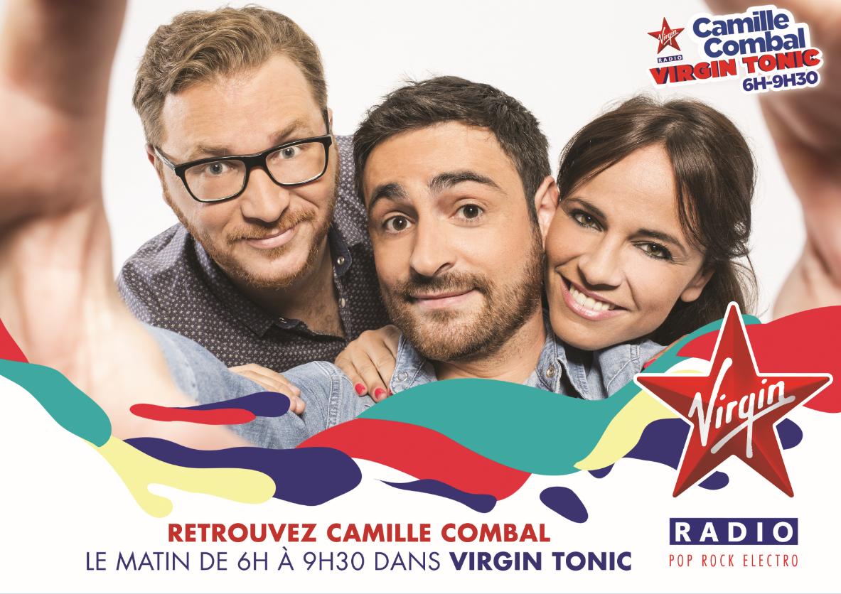 L'équipe de Virgin Tonic avec Camille Combal sur Virgin Radio © Renaud Corlouer