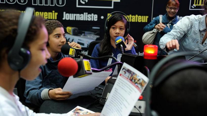 Ils veulent devenir journalistes et aiment déjà la radio © Christophe Abramowitz
