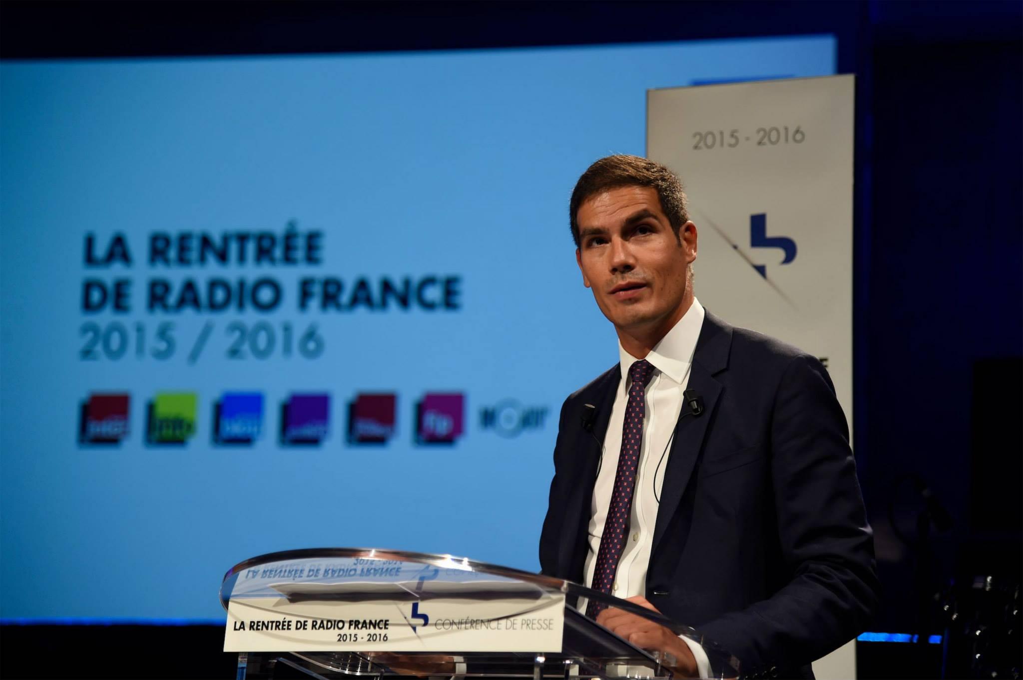 Mathieu Gallet, président directeur général de Radio France