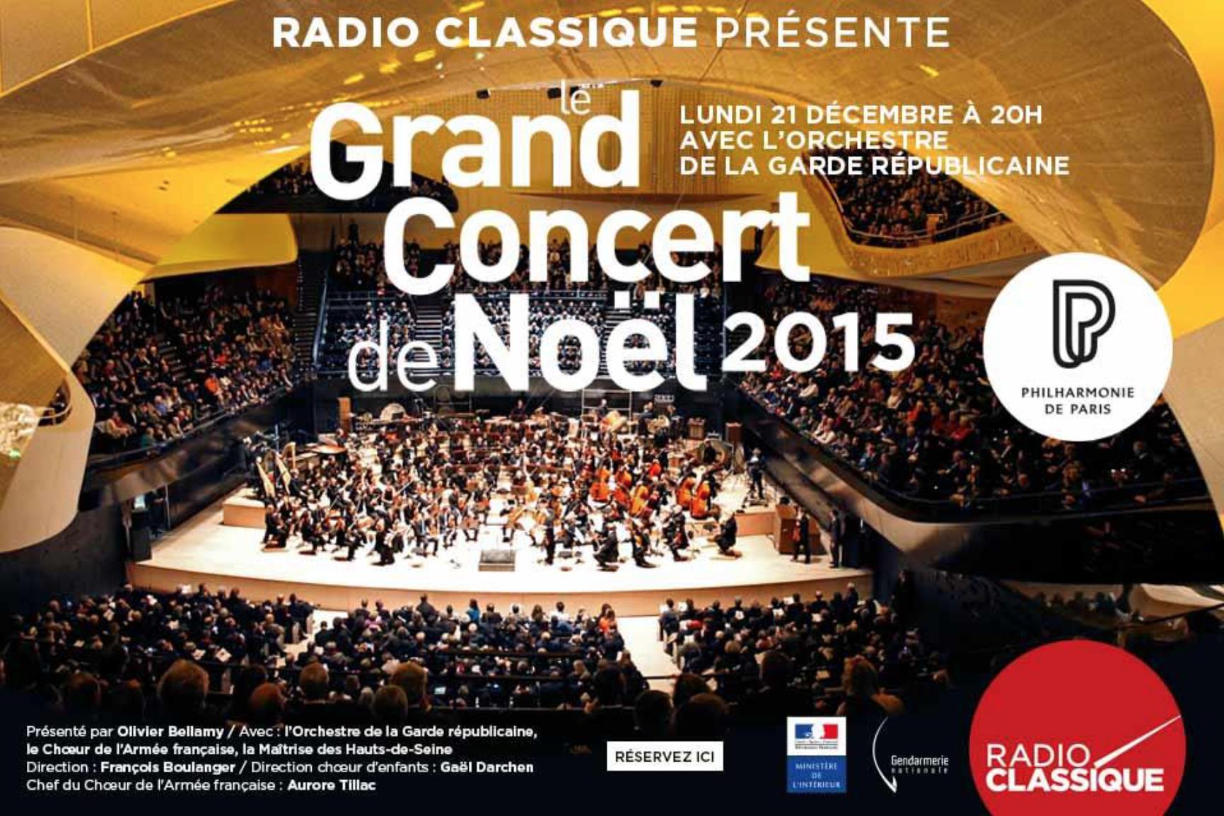 Radio Classique diffuse son Concert de Noël
