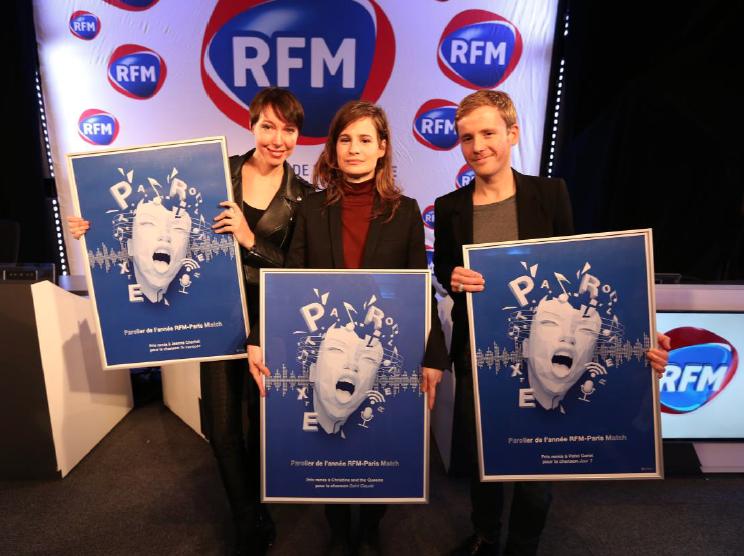 Christine and the Queens, Patxi et Jeanne Cherhal étaient présents lors de cette cérémonie pour recevoir leur trophée : une illustration signée de l'artiste Adam