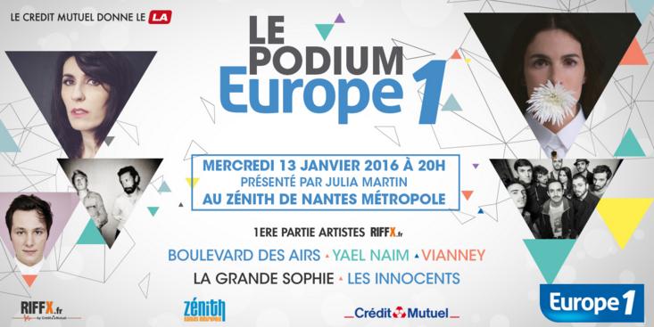 Ce concert est organisé en partenariat avec Le Crédit Mutuel, Ouest France et la plateforme musicale Riffx