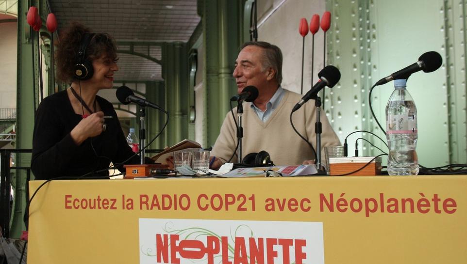 Yolaine de La Bigne avec  Allain Bougrain Dubourg, Président de la Ligue pour la Protection des Oiseaux
