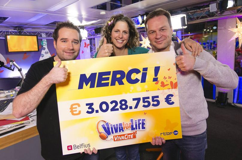 Record battu pour la 3e édition de Viva for Life: plus de 3 millions d'euros récoltés © Martin Godfroid