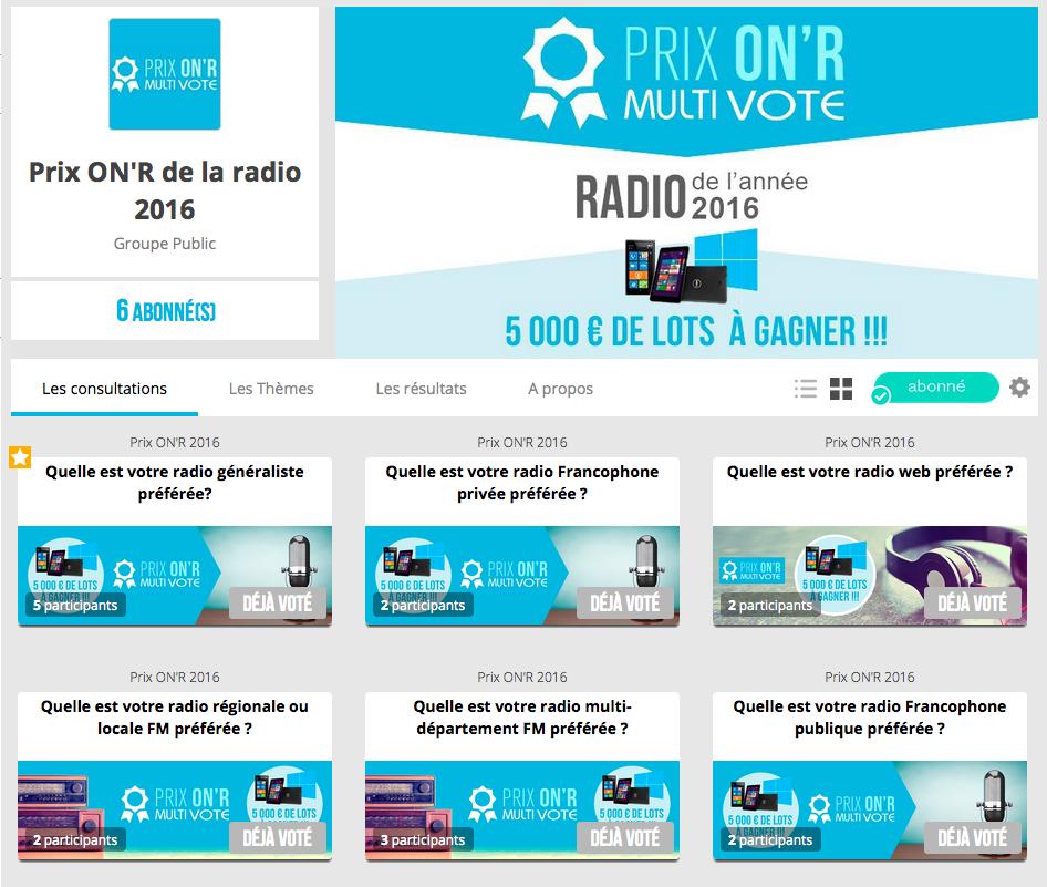Prix ON'R 2016 : intégrez le vote pour votre station sur votre site
