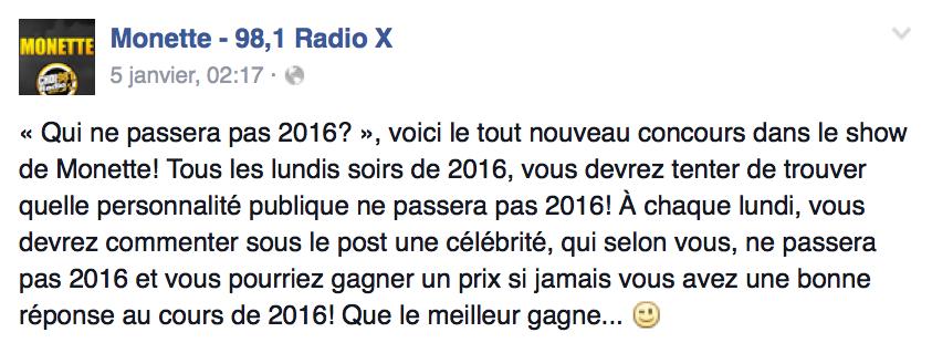 """Québec : le concours """"douteux"""" de Radio X"""