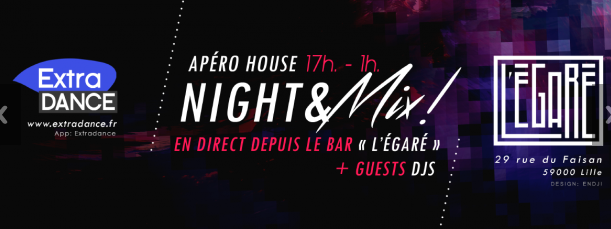 "La webradio Extradance lance le ""Night and Mix Live"""