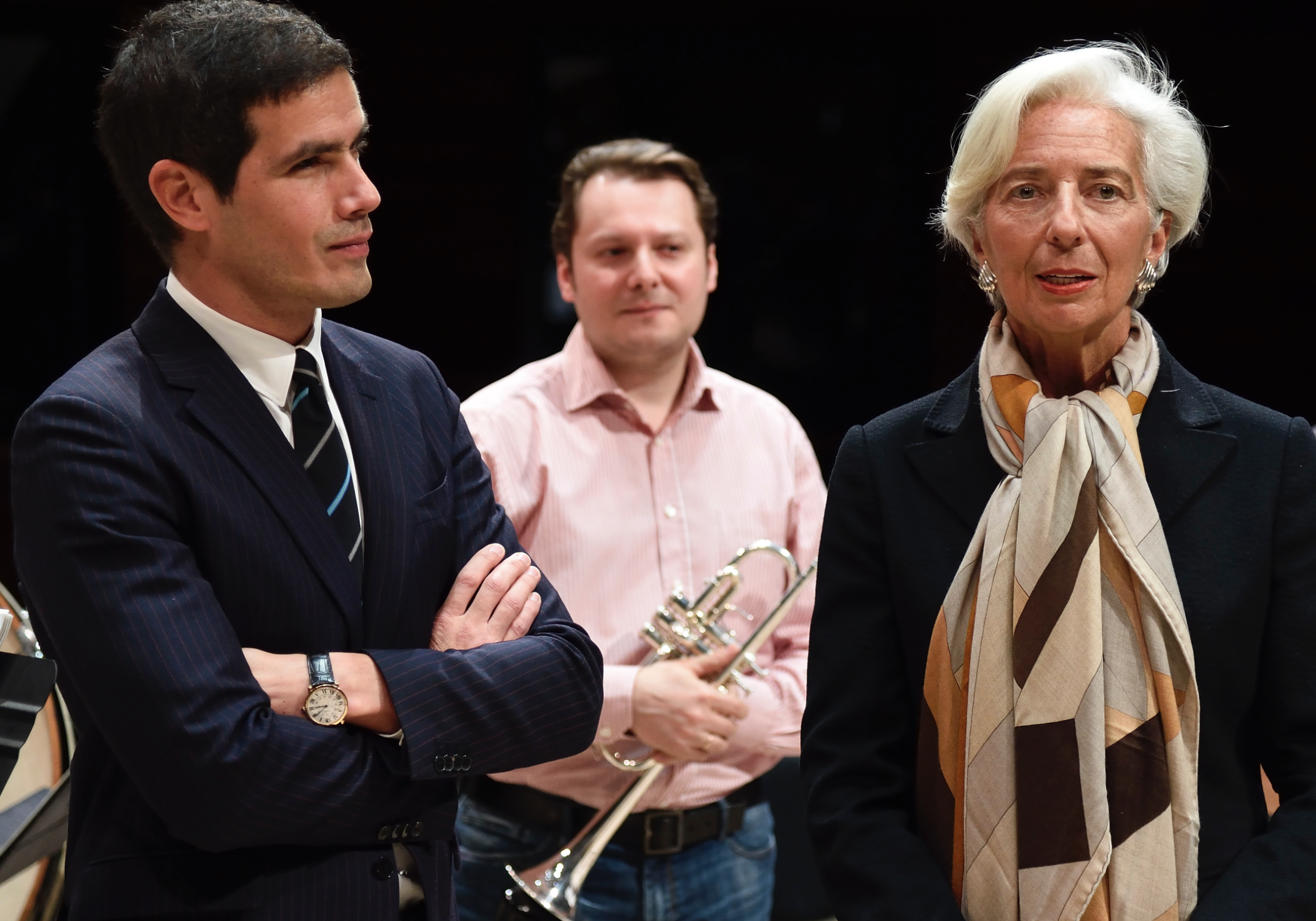 Mathieu Gallet et Christine Lagarde © Christophe Abramowitz / Radio France