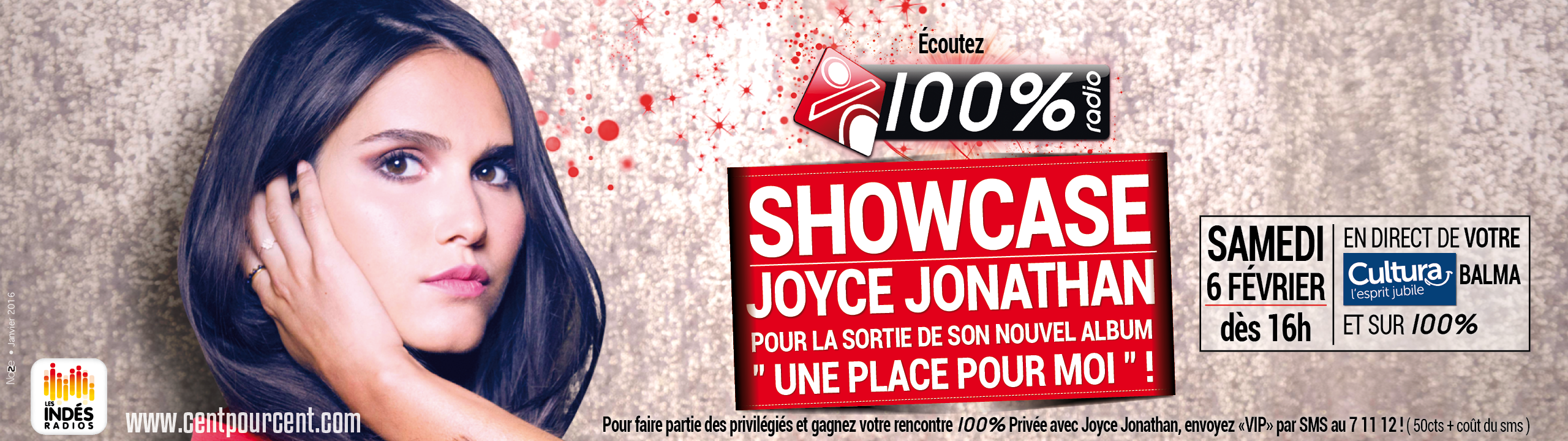 100% retransmet le showcase de Joyce Jonathan