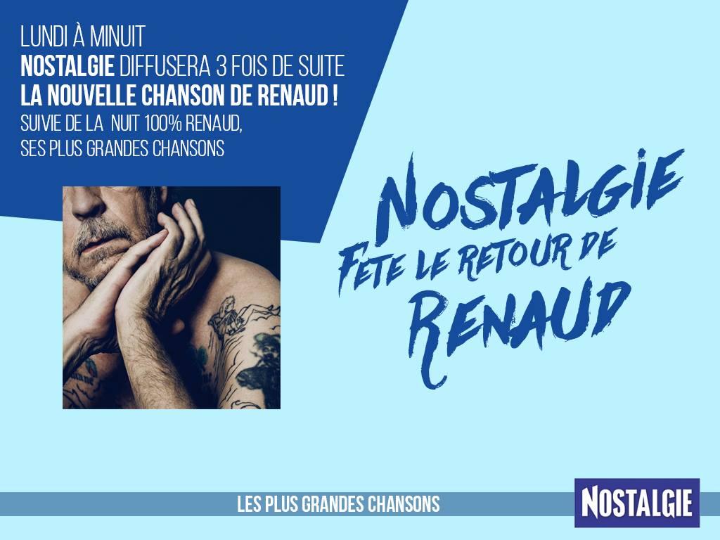 Nostalgie fête le retour de Renaud