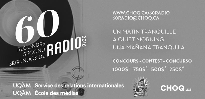 """Concours """"60 Secondes Radio 2016"""" : c'est parti"""