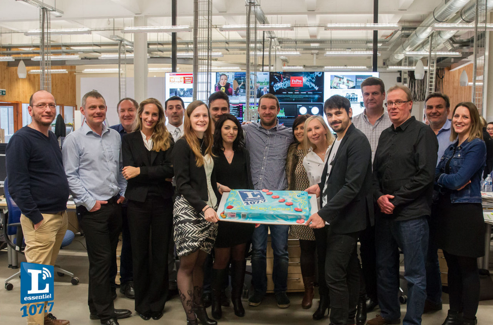L'équipe de L'Essentiel Radio, hier matin lors du lancement de la station sur les ondes luxembourgeoises © Tom di Maggio