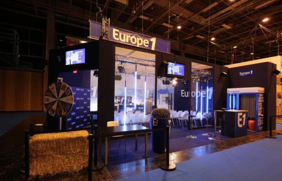 Le stand d'Europe 1 au Salon de l'agriculture à Paris