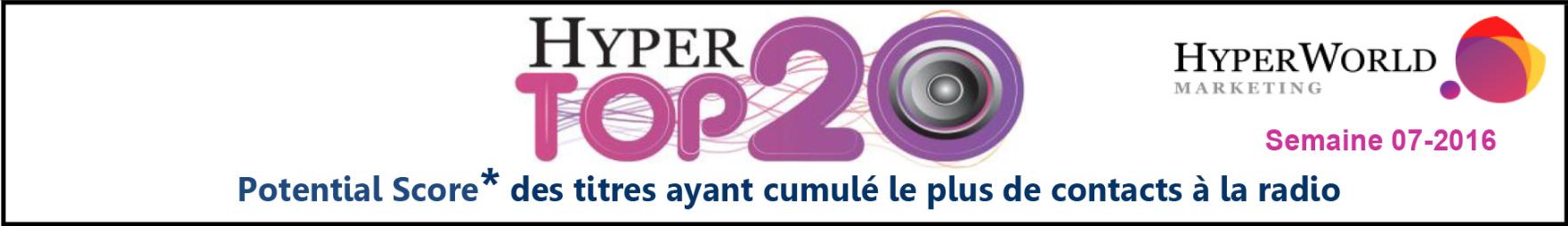 HyperTop20 - Semaine 07-2016 Le dessous des cartes de Yacast