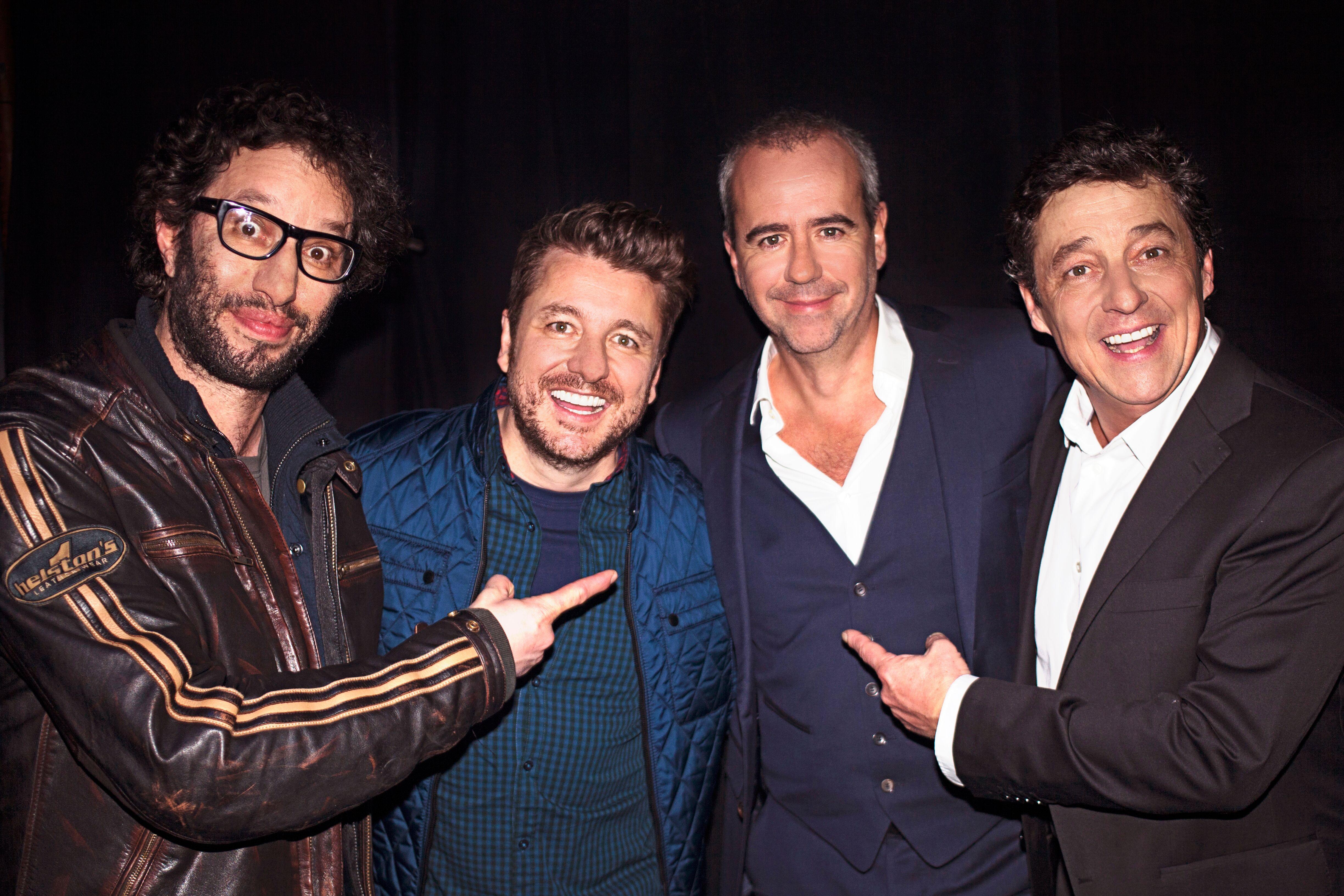 Manu Lévy, Bruno Guillon et Pascal Gigot ont répondu présents pour cette soirée placée sous le signe des 30 ans de carrière de Bruno Roblès © Patrice Aroca