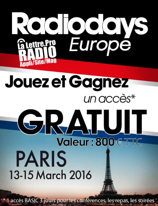 1 384 inscrits aux Radiodays Europe