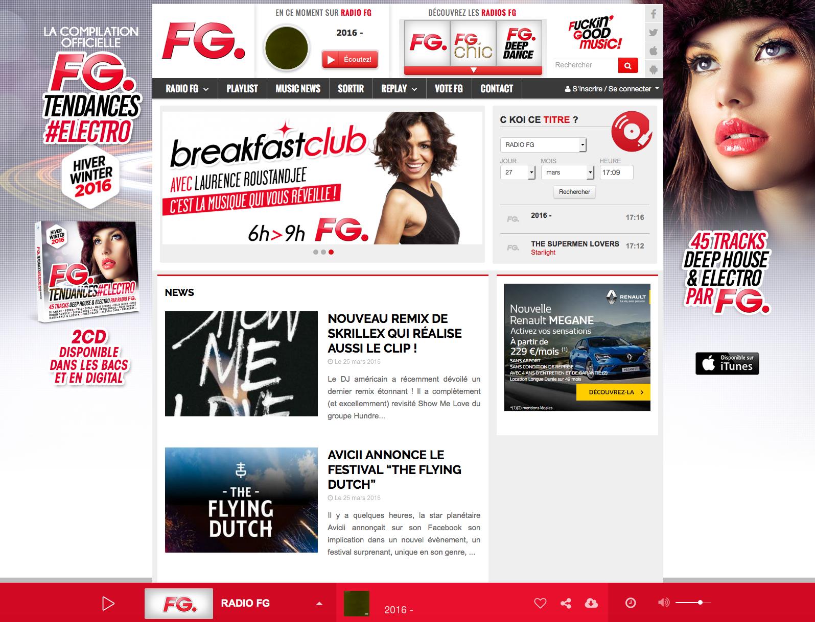 Nouvelle version de radioFG.com développée par Radio King