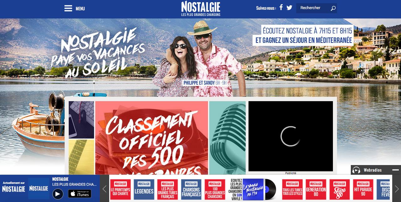 Nouveau site web pour Nostalgie
