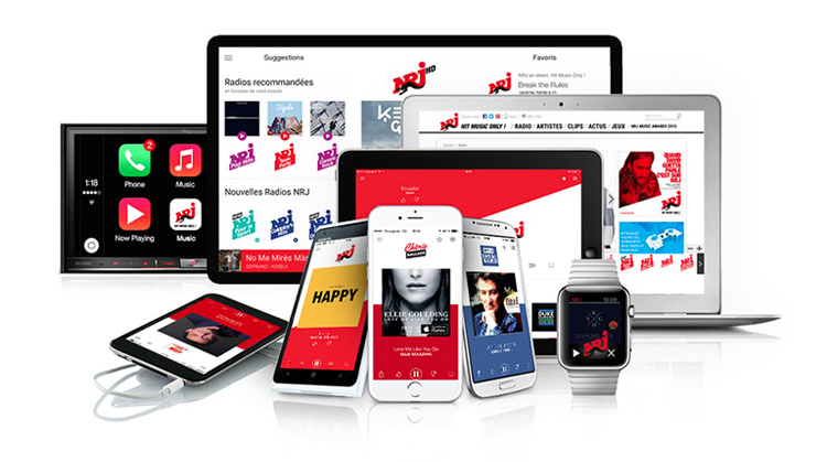 Quintuple record d'audience digitale pour NRJ Group