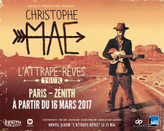 Christophe Maé : nouvel artiste France Bleu