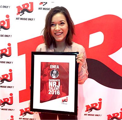 Enea remporte le prix NRJ Talent 2016