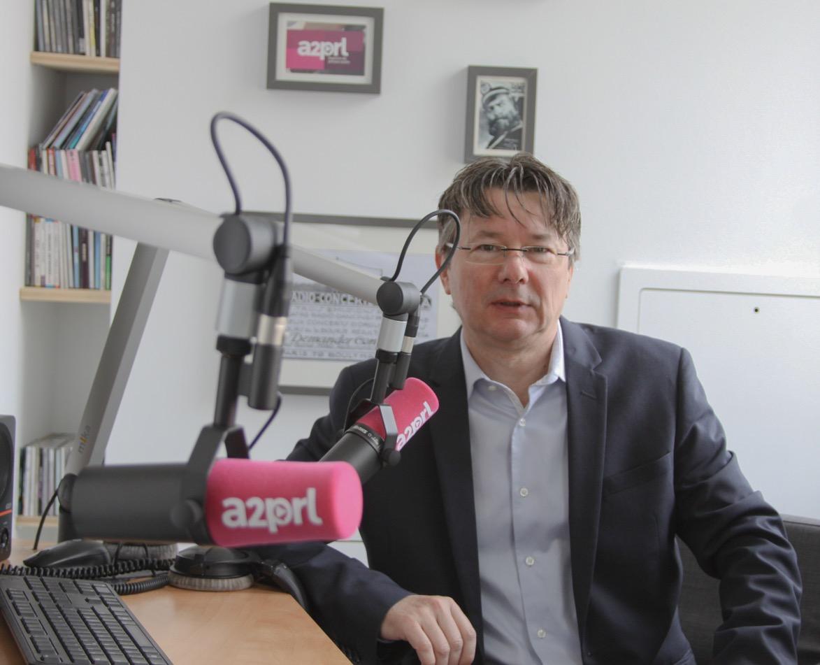 Sylvain Athiel est le directeur de l'agence de presse audio A2PRL du groupe Mediameeting