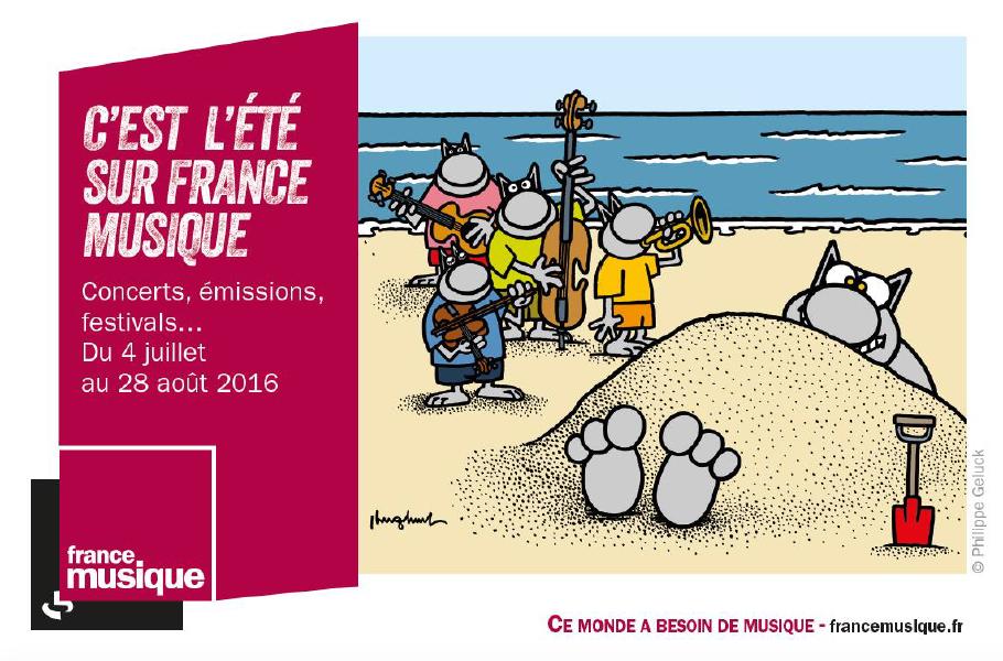 Geluck dessine l'été de France Musique